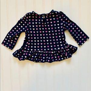 GAP Heart long sleeved shirt